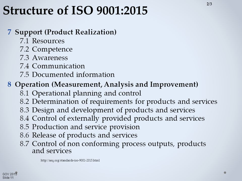 product realization iso 9001 2015