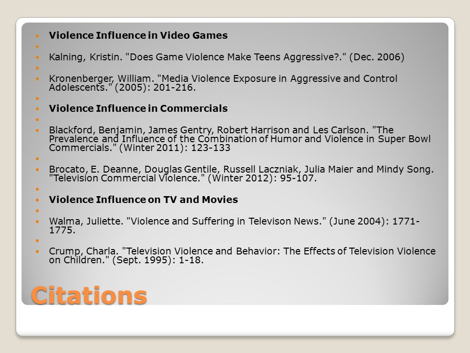 Do Television And Video Games Impact >> Violence Influence In Media Ppt Video Online Download