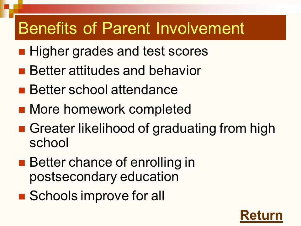 Benefits of Parent Involvement