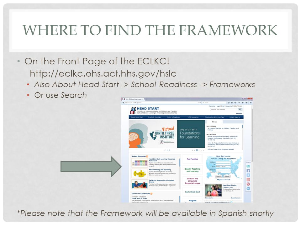 Where to find the framework