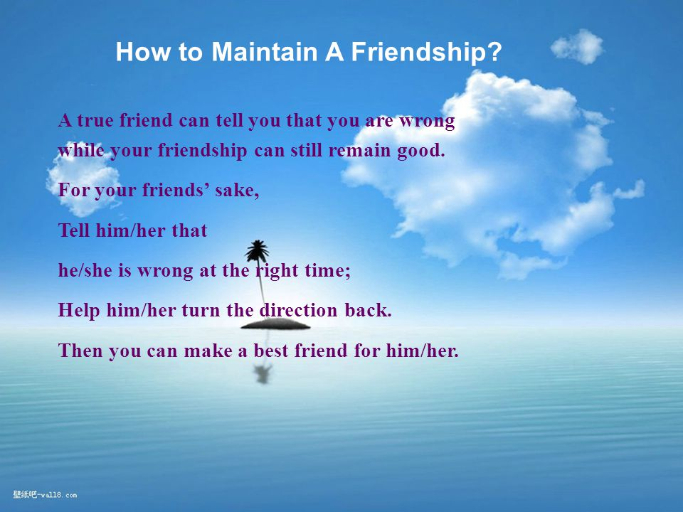 How to Maintain A Friendship