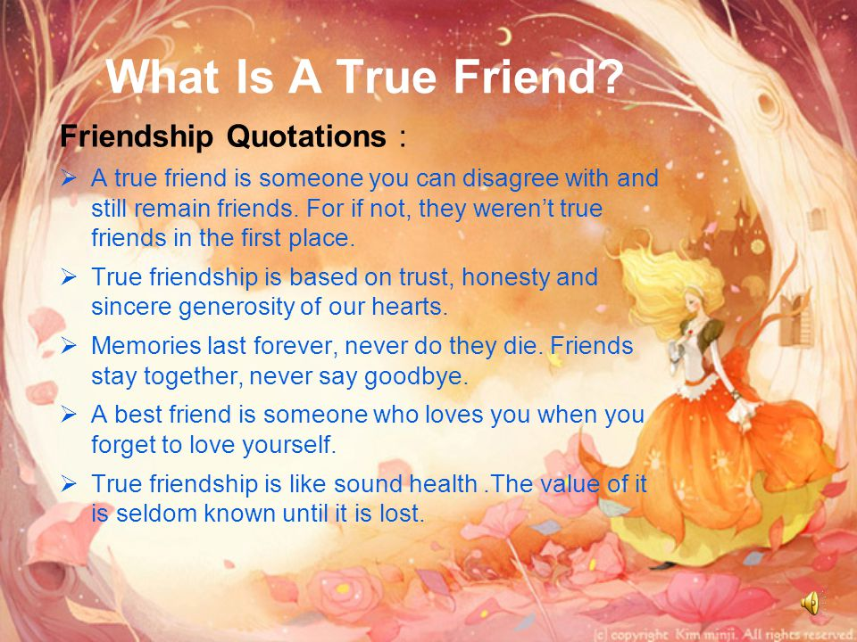 What Is A True Friend Friendship Quotations :
