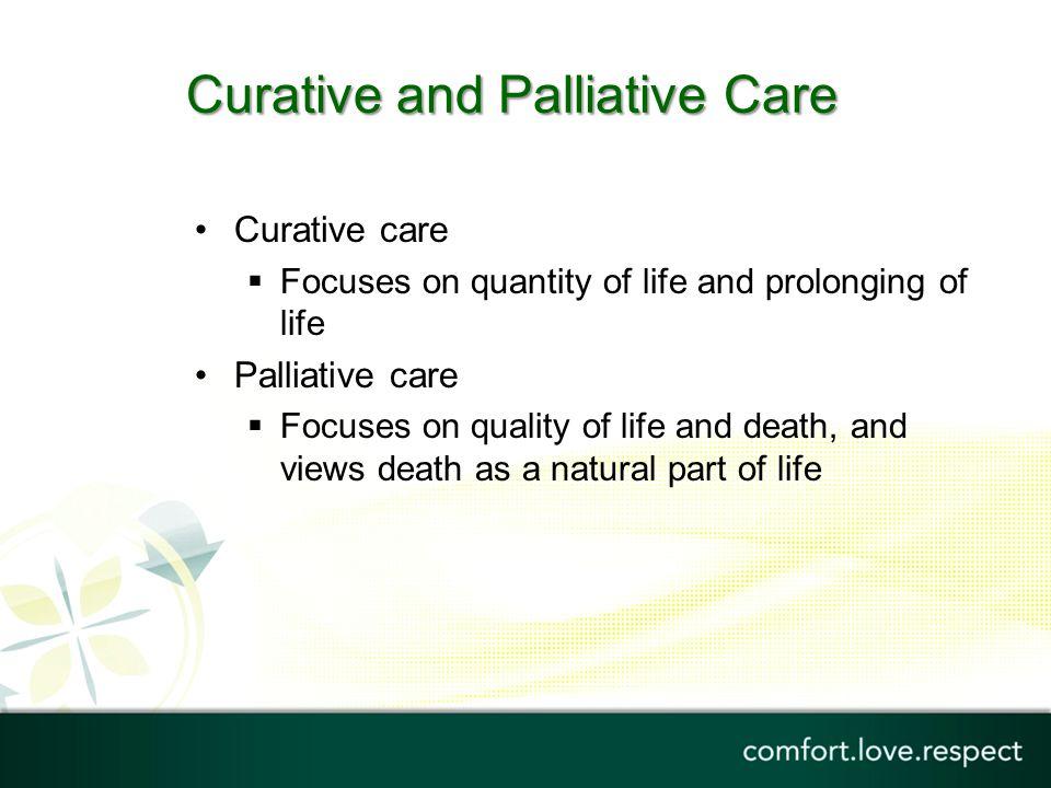 palliative vs curative