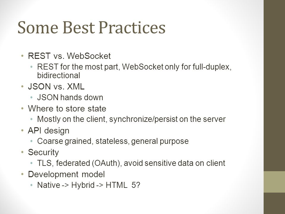 Android and iOS Development with JAX-RS, WebSocket , and