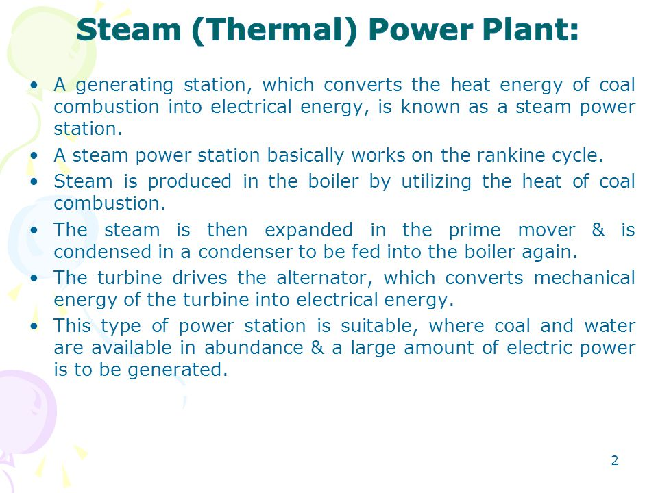 Steam (Thermal) Power Plant: