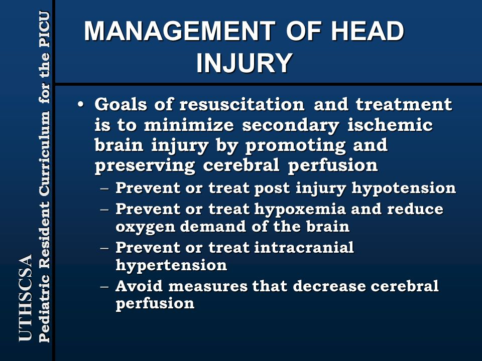head injury treatment