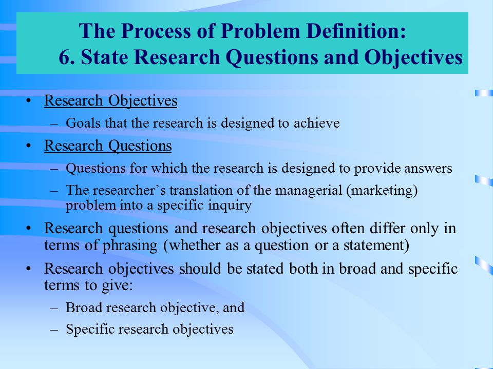 how to state a research question