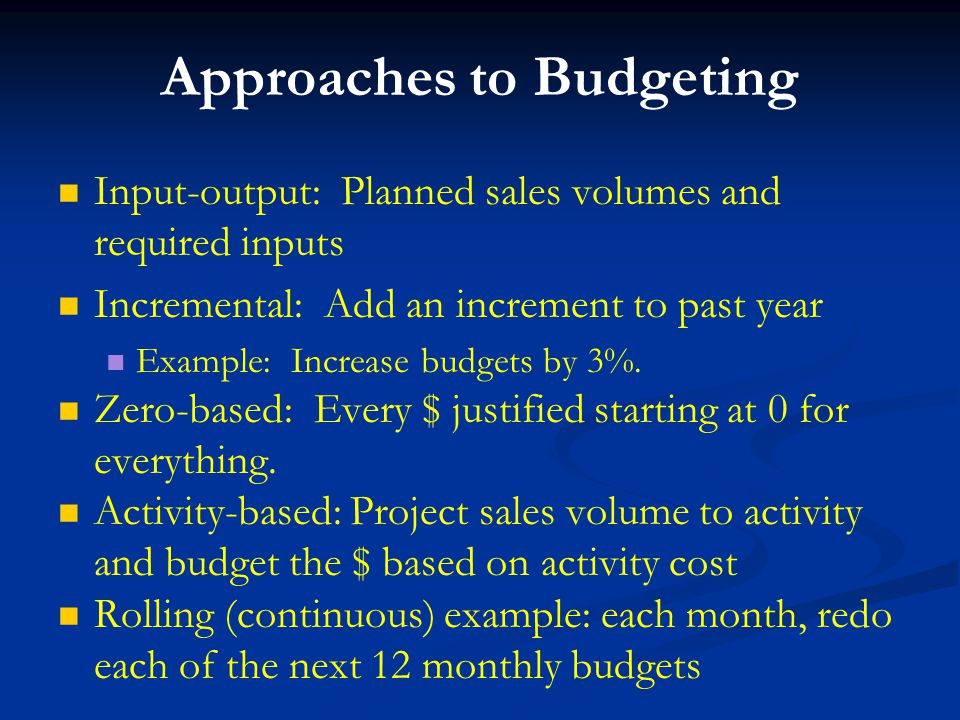 operational budgeting and profit planning ppt download