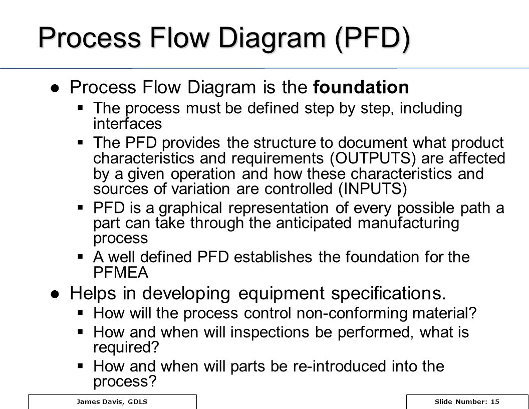 pfmea process failure mode and effects analysis ppt video online rh slideplayer com process flow diagram symbols meaning pdf process flow diagram definition