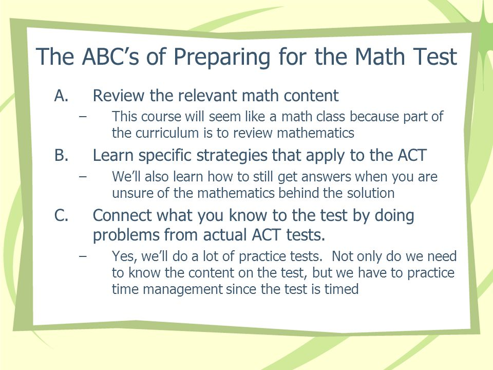 Welcome to ACT Prep Math/Science review. - ppt download