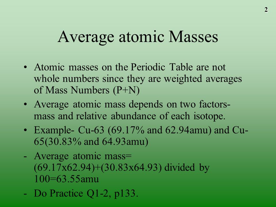 The mole to play the movies and simulations included view the average atomic masses atomic masses on the periodic table are not whole numbers since they are urtaz Choice Image