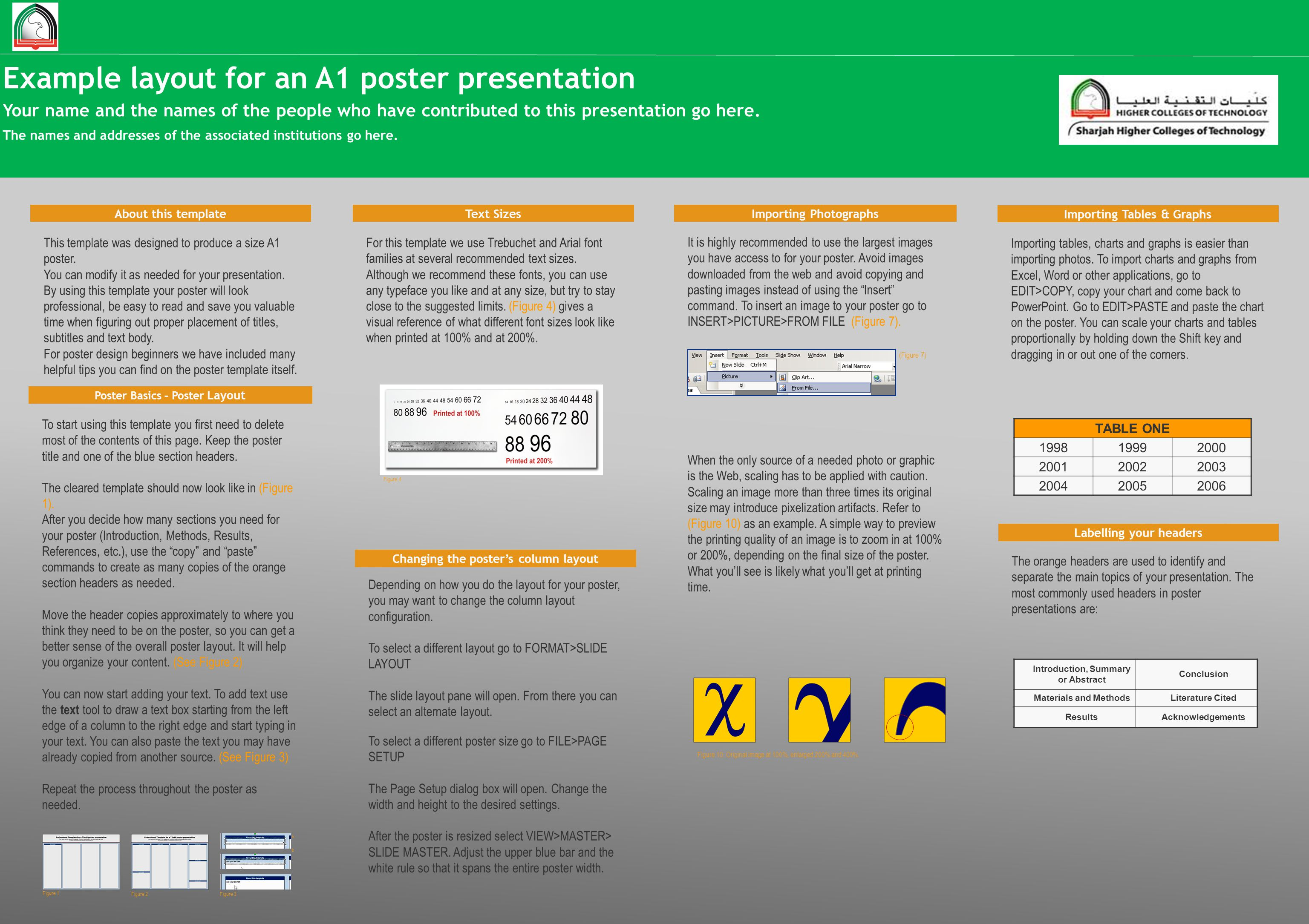 Example Layout For An A1 Poster Presentation Ppt Download
