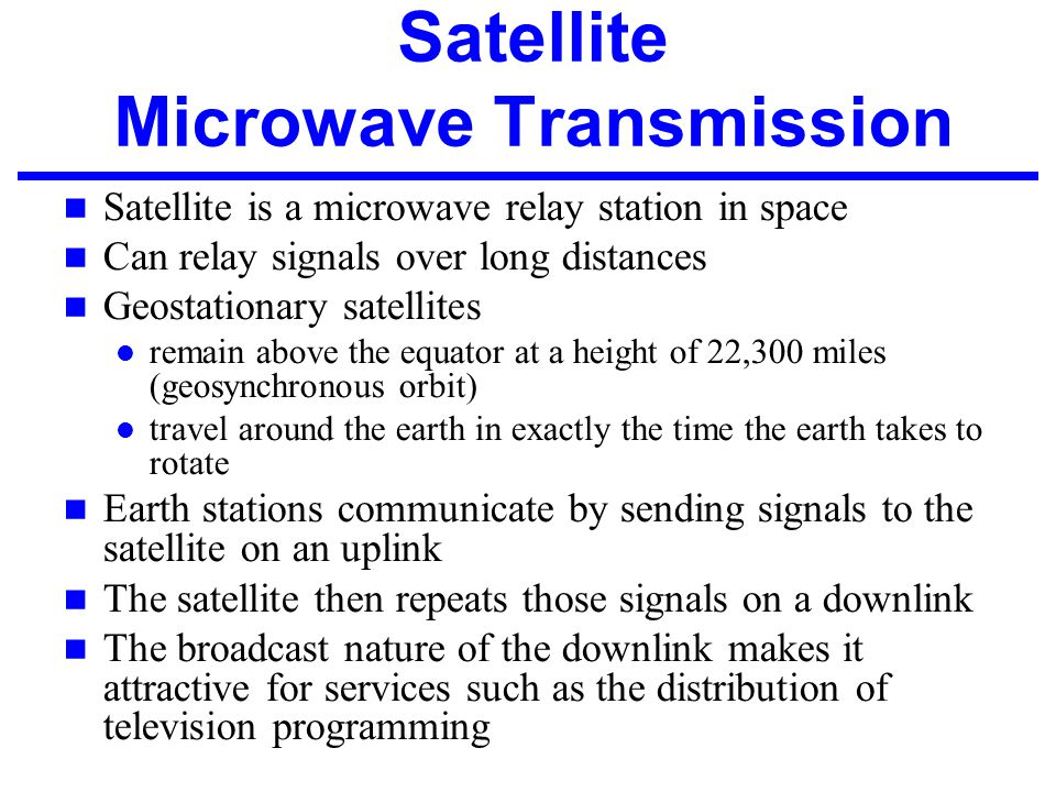 Satellite Microwave Transmission