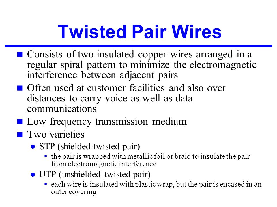 Twisted Pair Wires