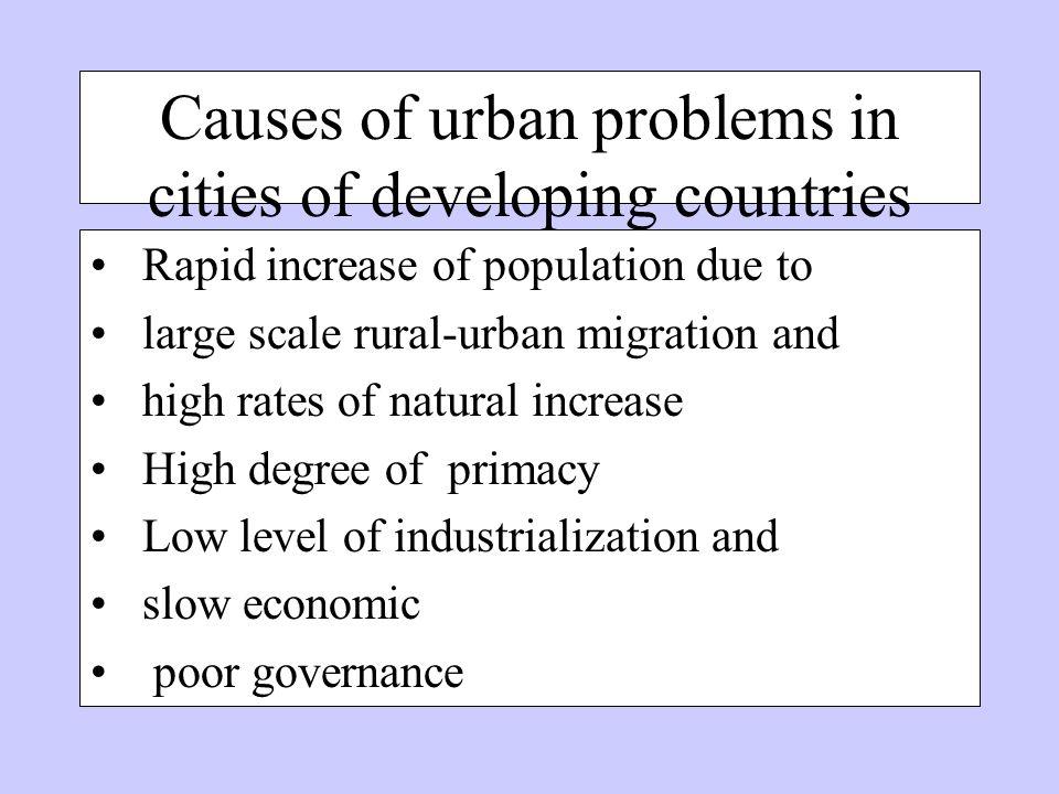 problems of rural urban migration