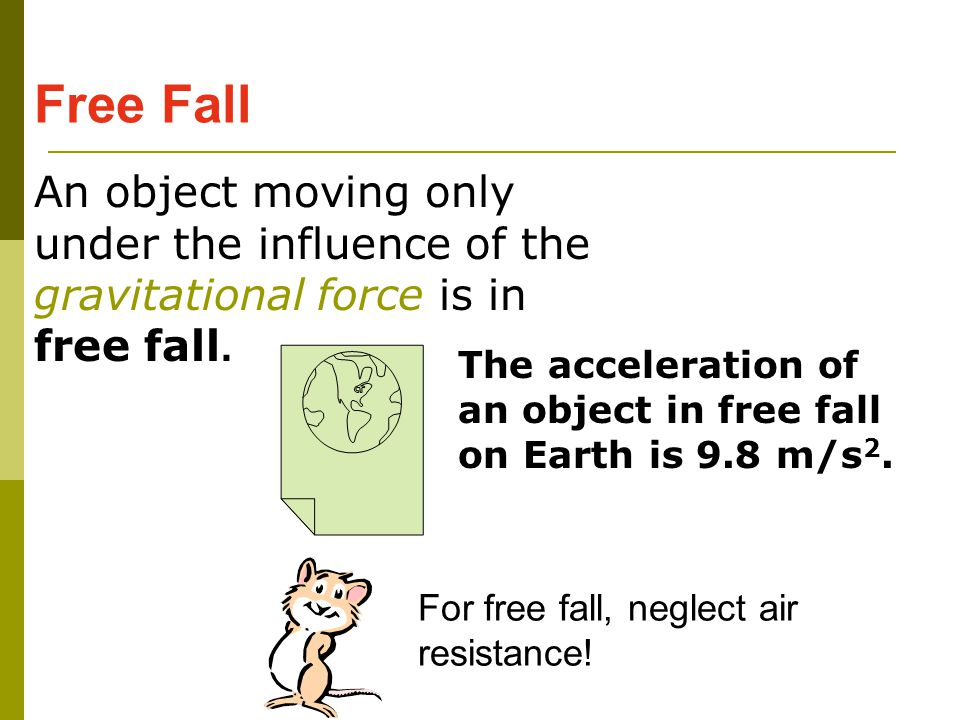 the effect of air resistance with relationship to the area of the paper in free fall motion essay Free fall rachel shea physics 131 lab, ql hasbrouck 210 sept 21, 2014 abstract this experiment measures the study of motion by observing the force of gravity acting solely upon an object, and also measures reaction time if an object is in free fall, the only force acting upon it is gravity.
