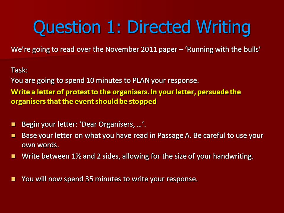 Igcse english language tips ppt video online download question 1 directed writing spiritdancerdesigns Gallery