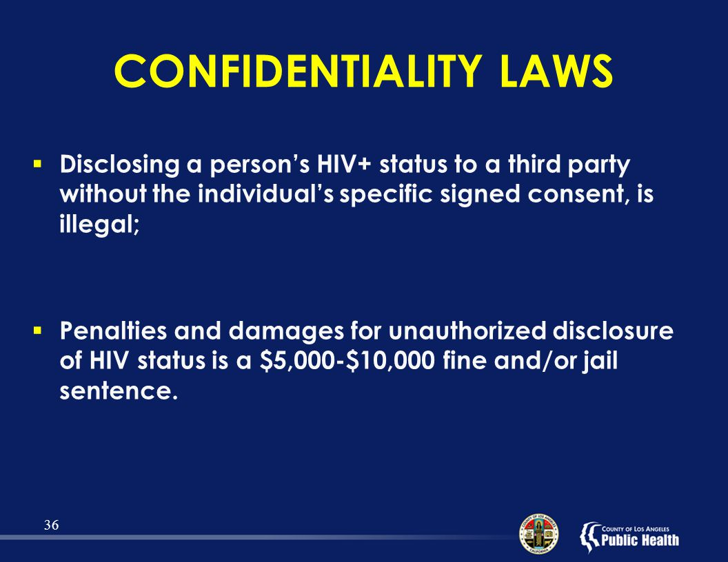 Disclosure and HIV