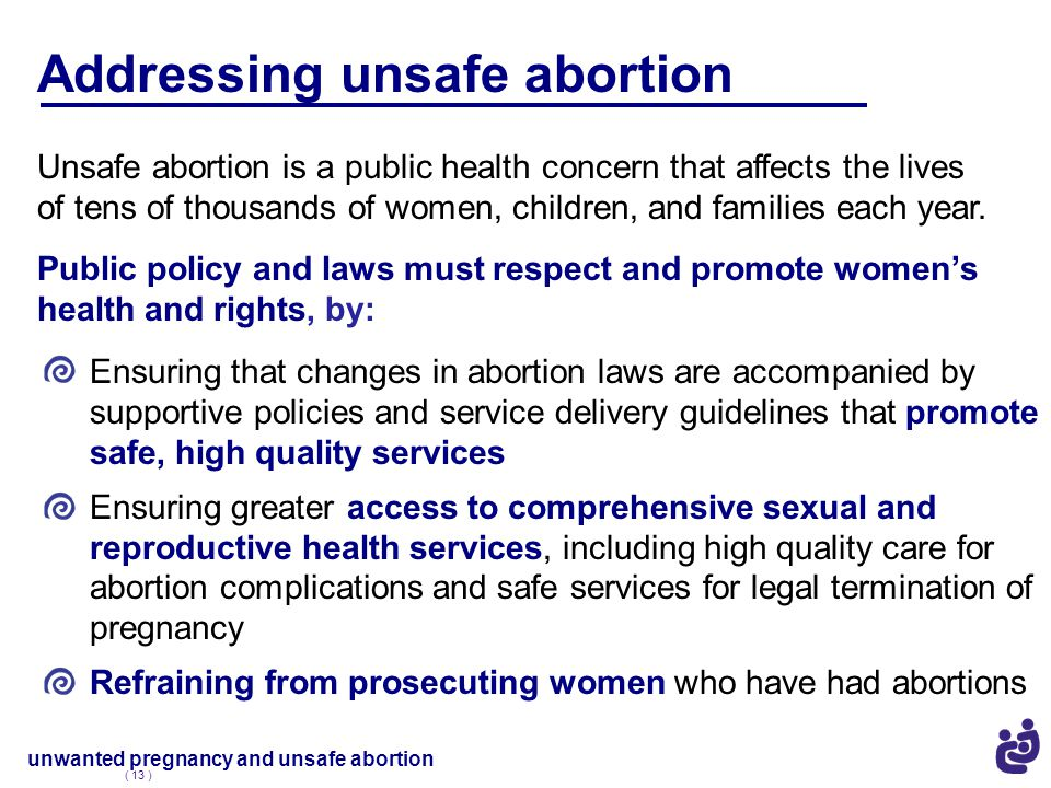 Addressing unsafe abortion