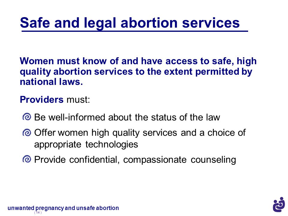 Safe and legal abortion services