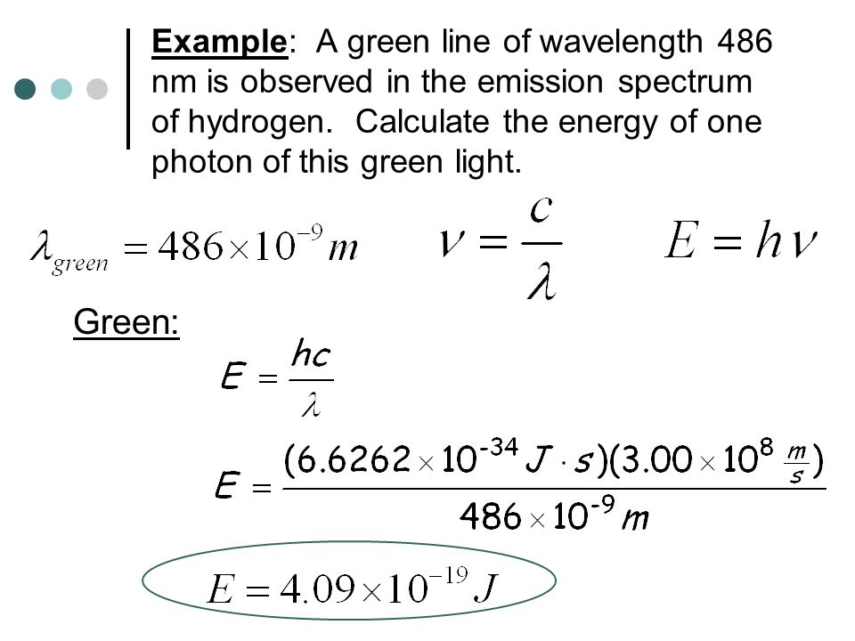 Calculating energy of photons How can I