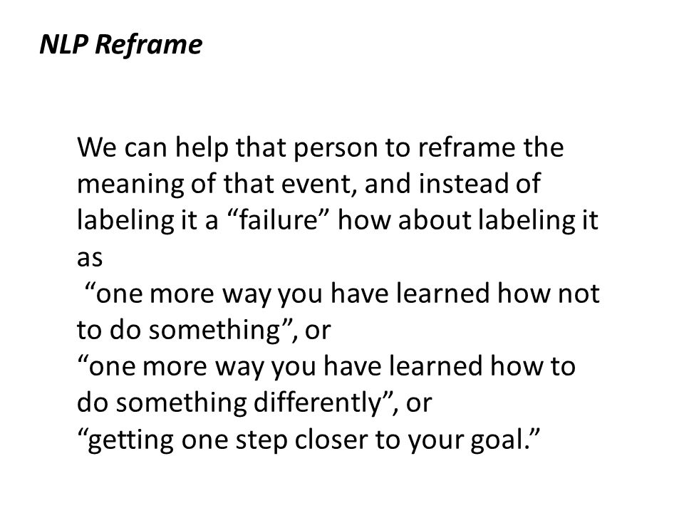 NLP Reframe Everything can be reframed! Is the cup half empty or ...
