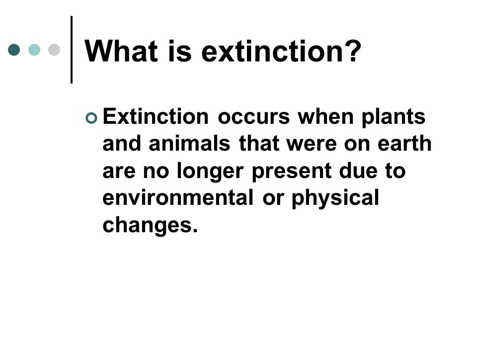 What is extinction.