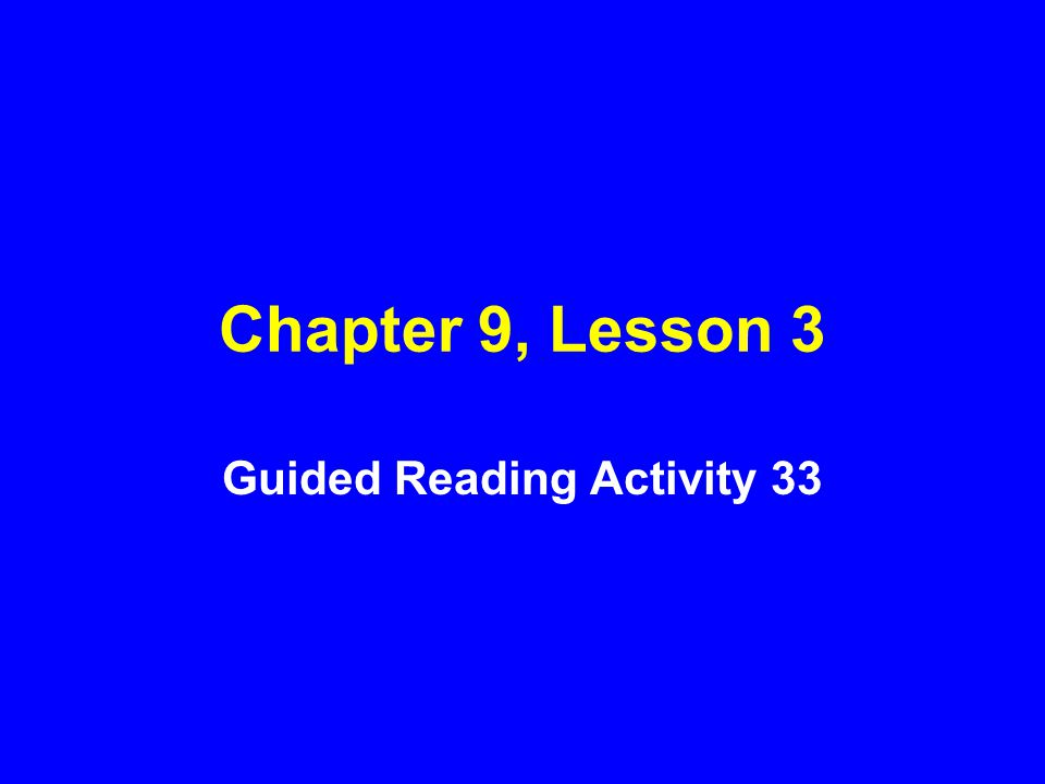 Guided Reading Activity 33