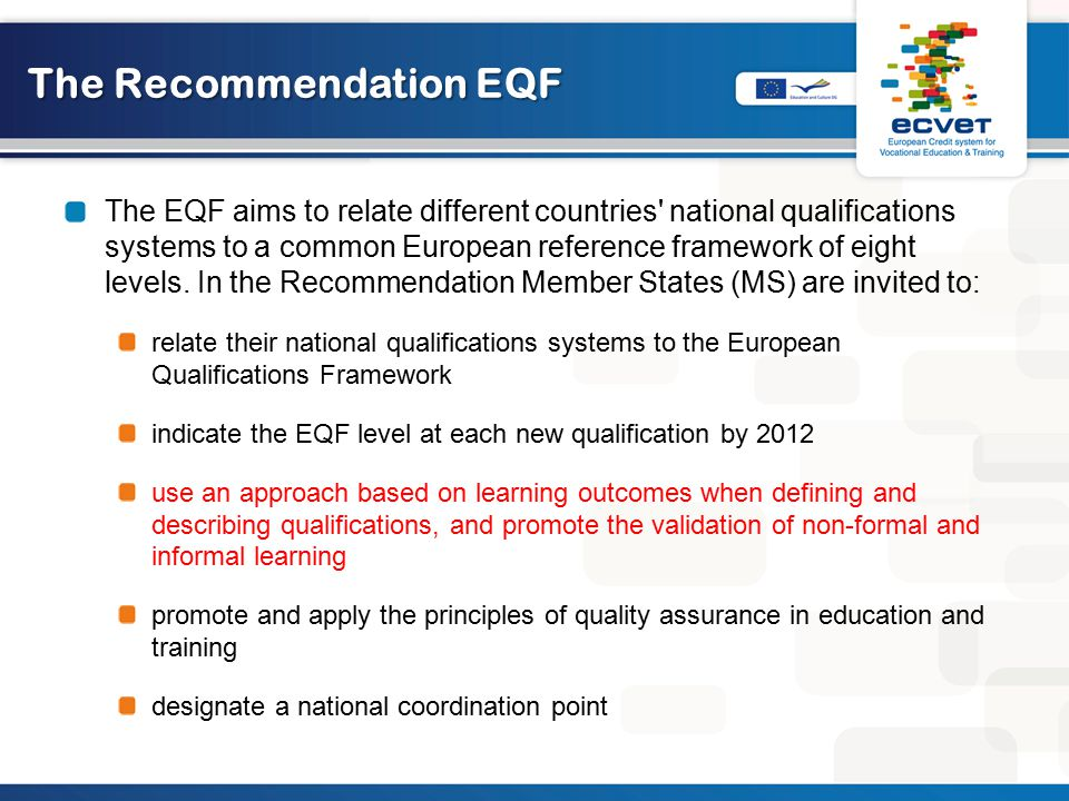 The Recommendation EQF