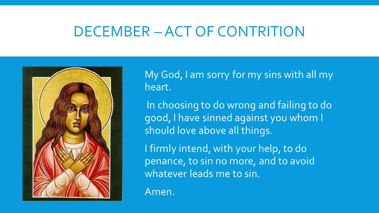December – act of contrition