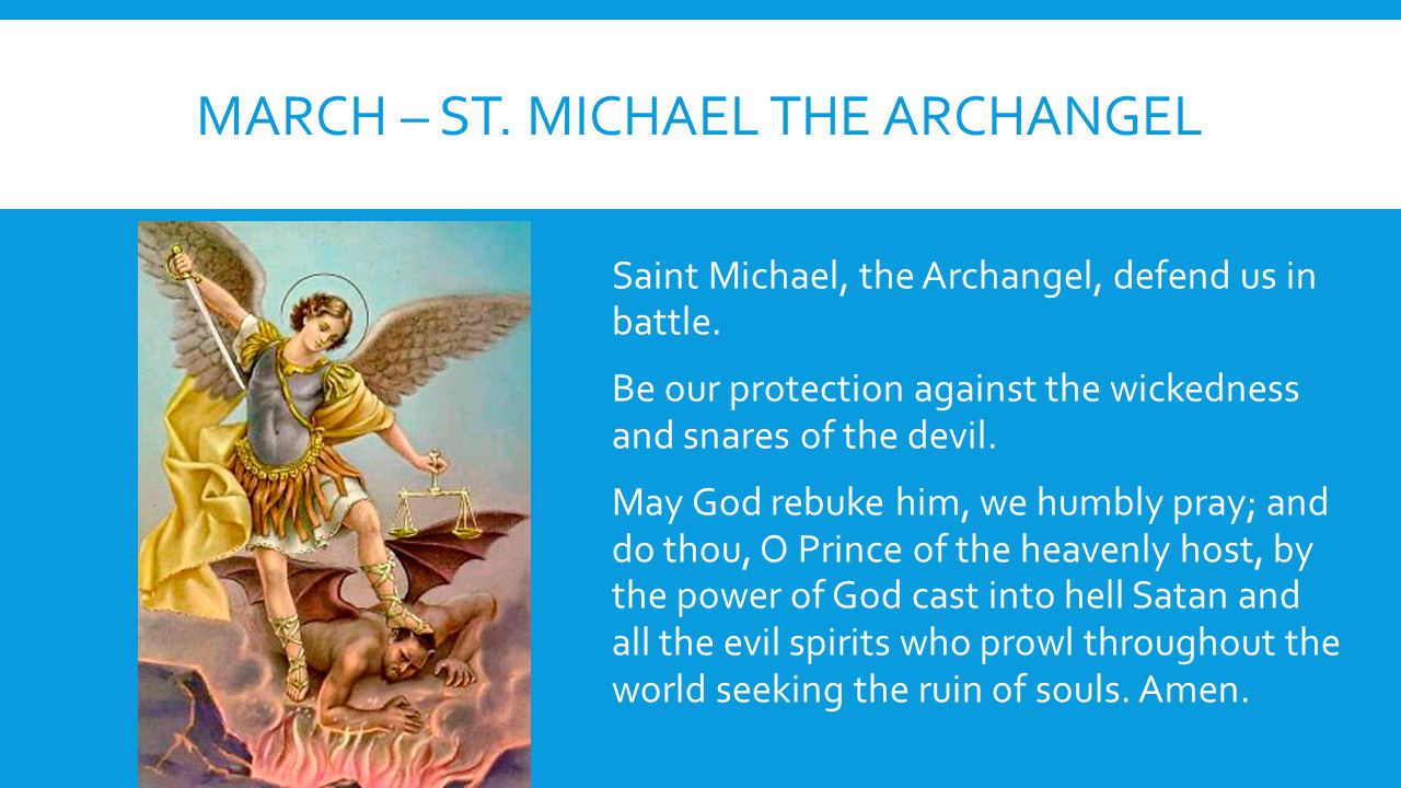 March – St. Michael the Archangel