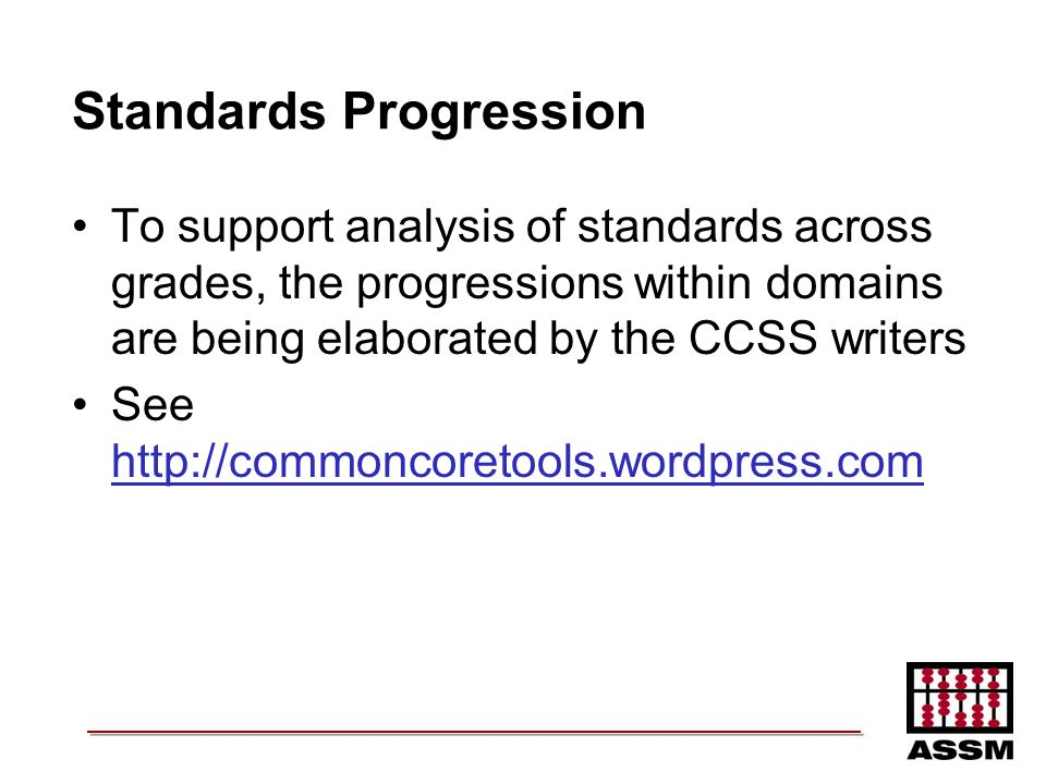 Standards Progression