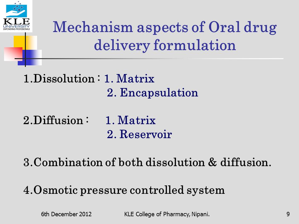 Controlled Release Oral Drug Delivery System - ppt download