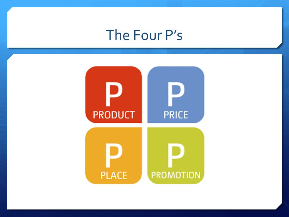 The Four P's