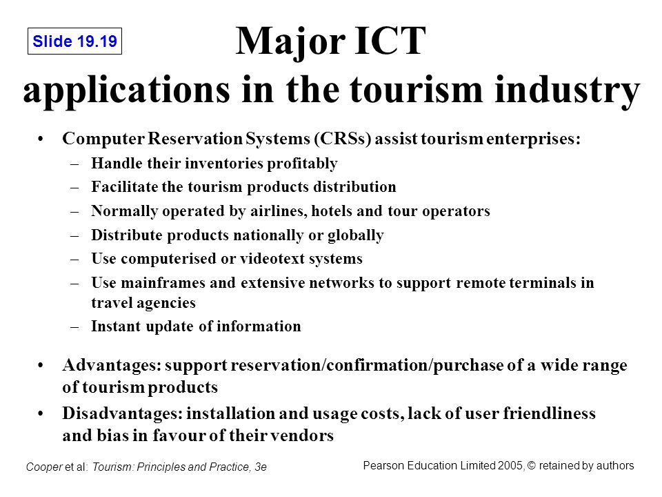 Chapter 19 Information Technology in Tourism - ppt video