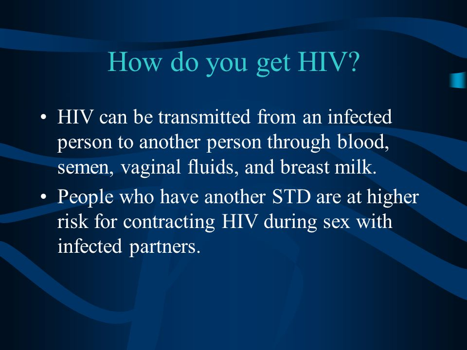 The Risk For Males Of Contracting Various Stds Through One