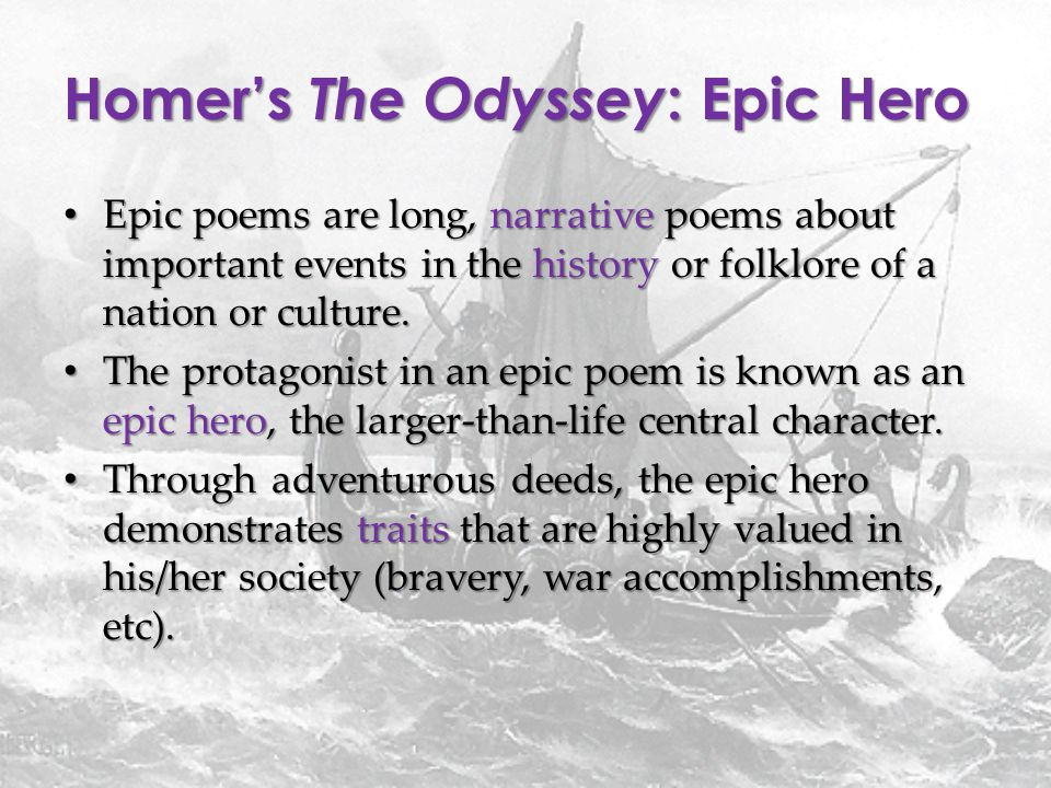 why is the odyssey an epic