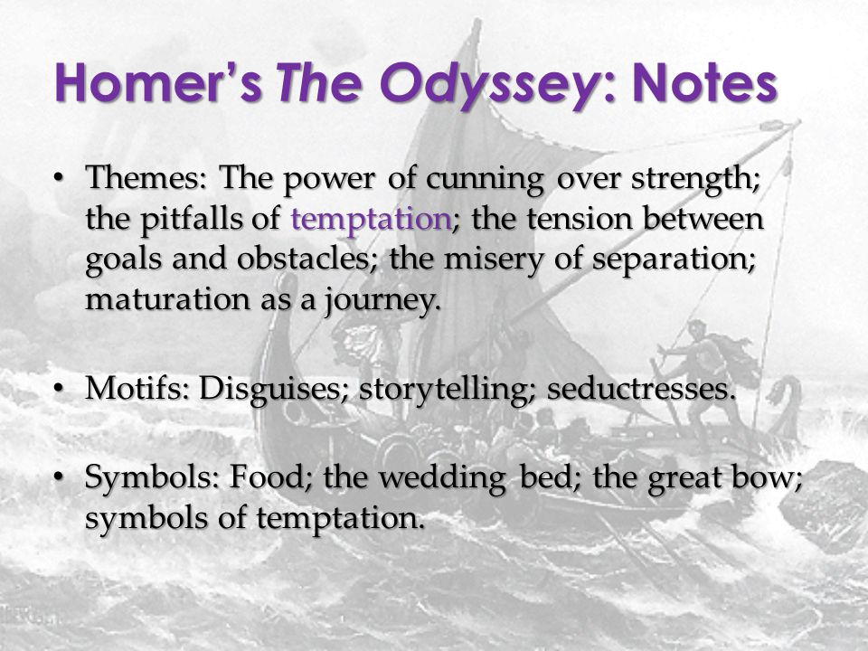 an explanation of the character of odysseus in the poem odyssey by homer The odyssey study guide contains a biography of homer, literature essays, a complete e-text, quiz questions, major themes, characters, and a full summary and analysis about the odyssey the odyssey summary.