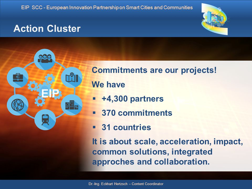 EIP Action Cluster Commitments are our projects! We have