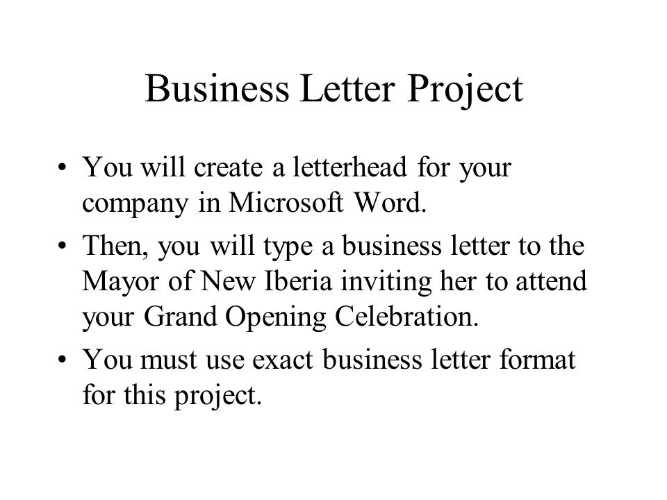 Business Letter Format Microsoft Word from slideplayer.com
