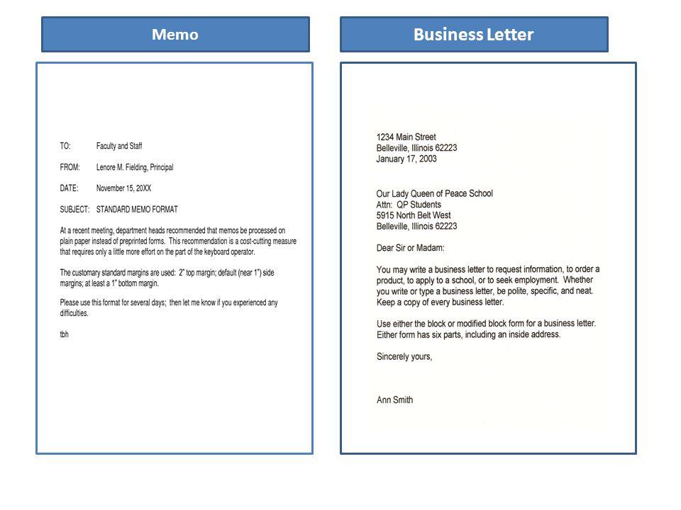 5 Memo Business Letter