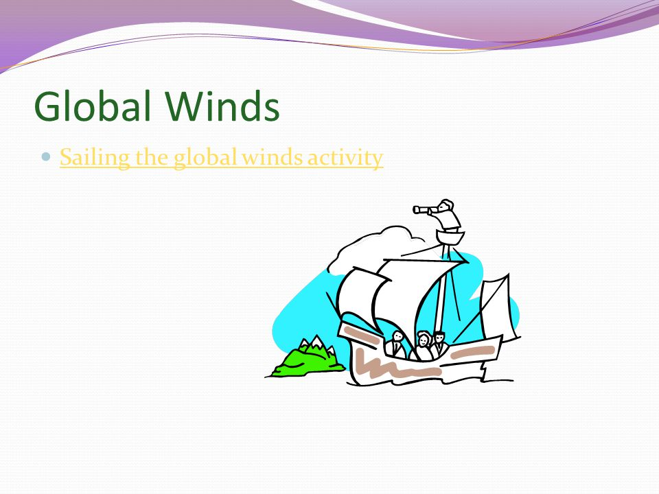 Global Winds Sailing the global winds activity