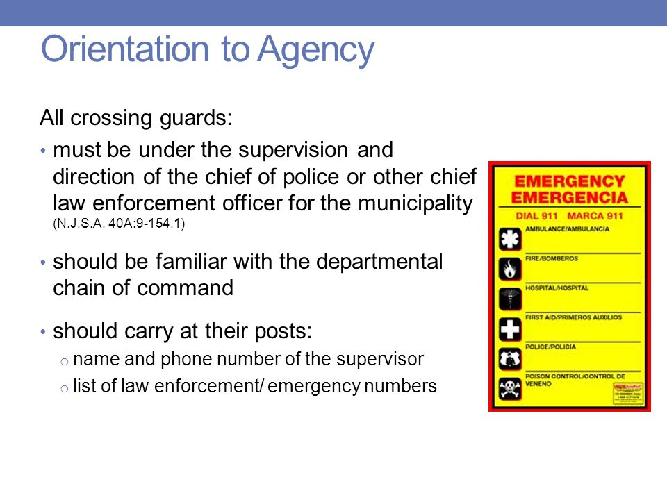 New Jersey Crossing Guard Training - ppt download