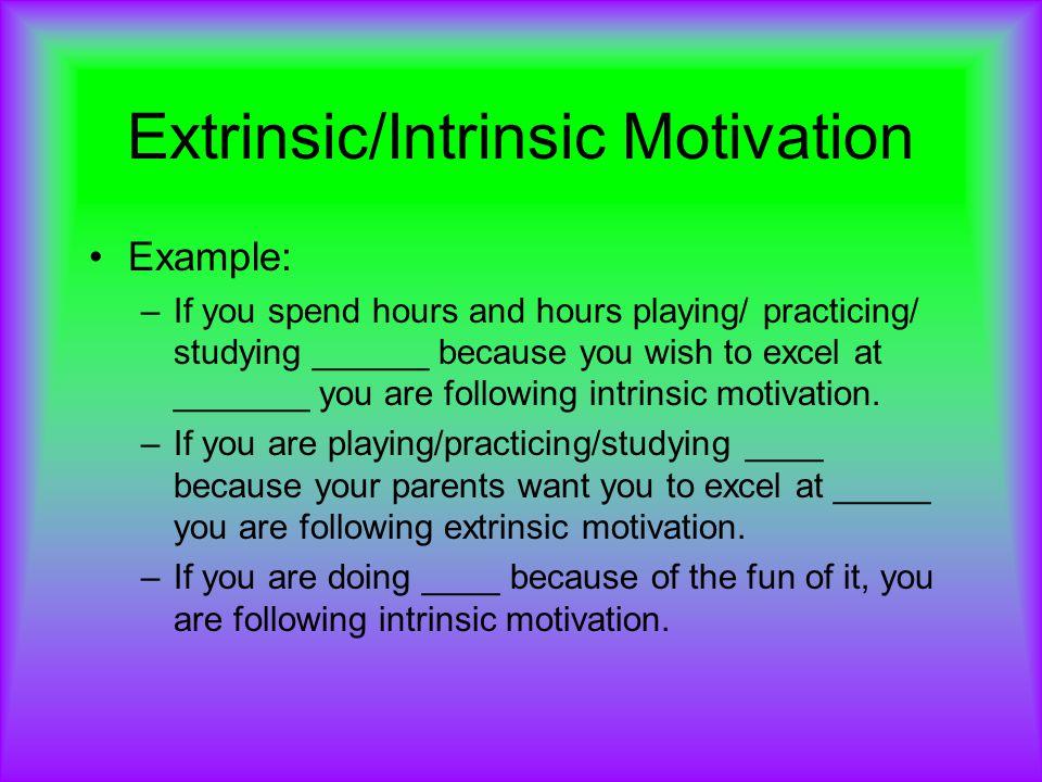 Excelsior college extrinsic vs. Intrinsic motivation student.