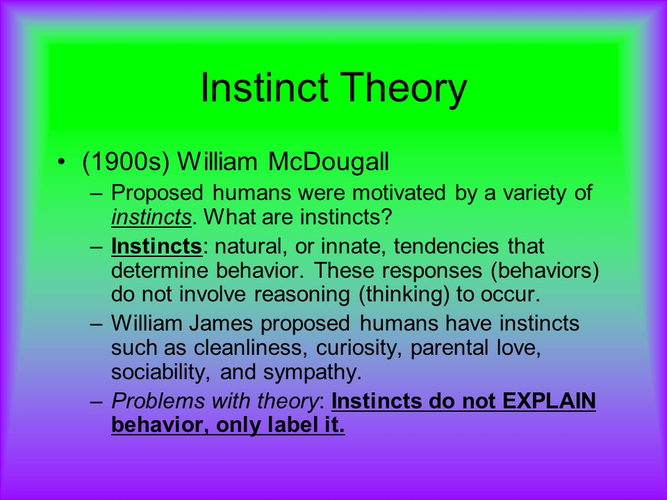 william mcdougall instinct theory