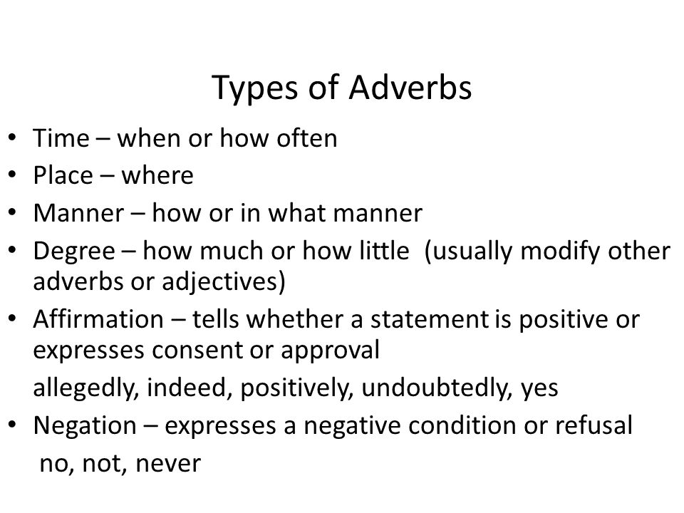 Describes a verb, adjective, or other adverb - ppt video