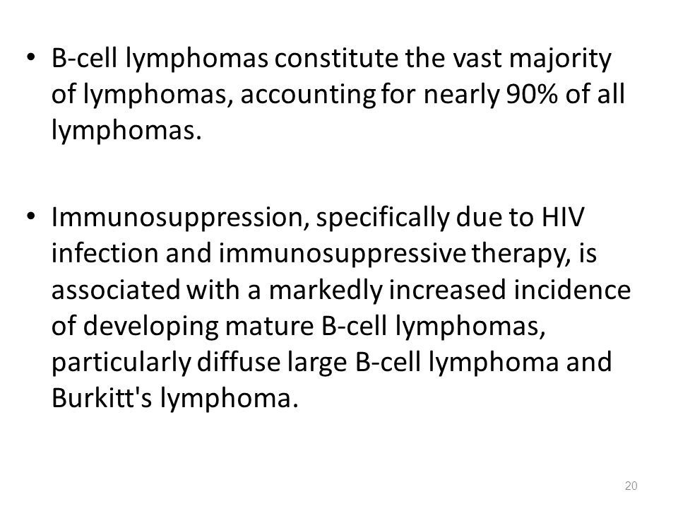 B-cell lymphomas constitute the vast majority of lymphomas, accounting for nearly 90% of all lymphomas.