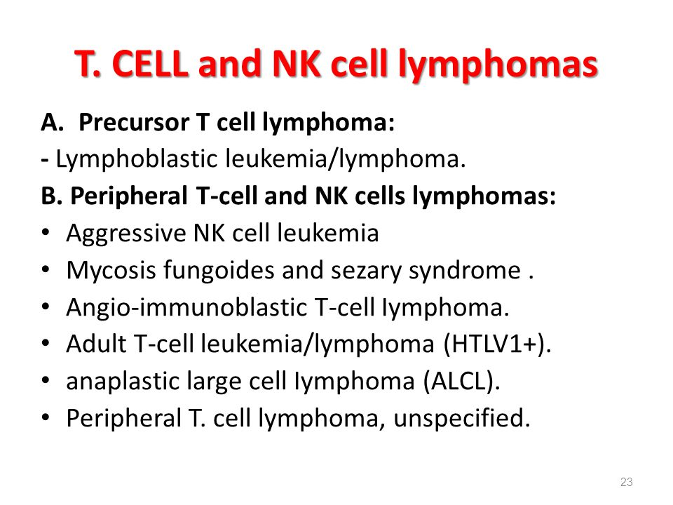 T. CELL and NK cell lymphomas