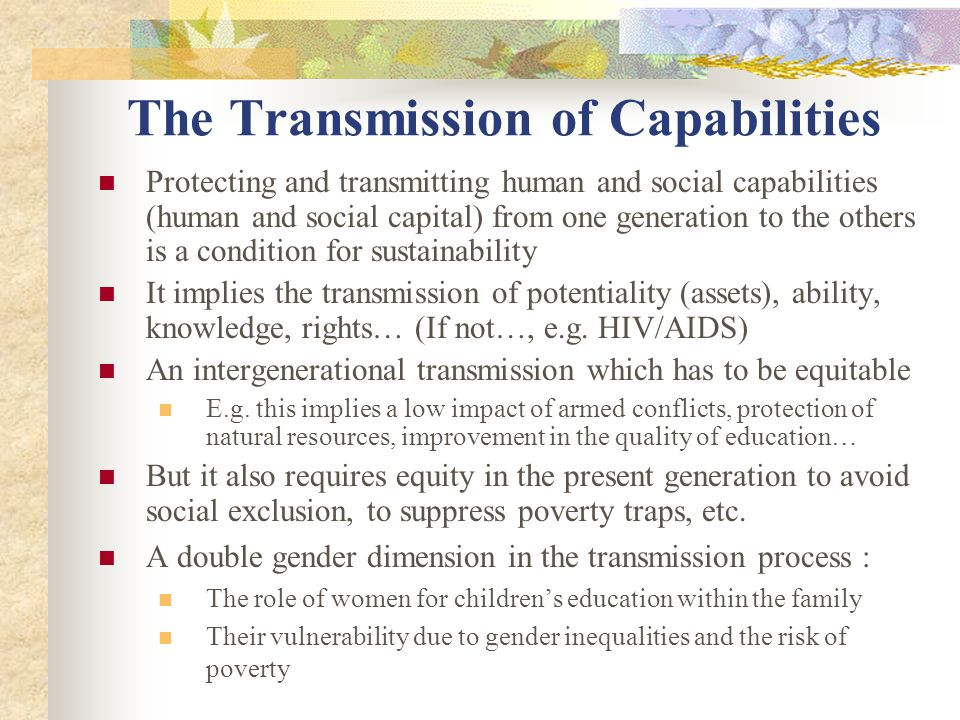 The Transmission of Capabilities
