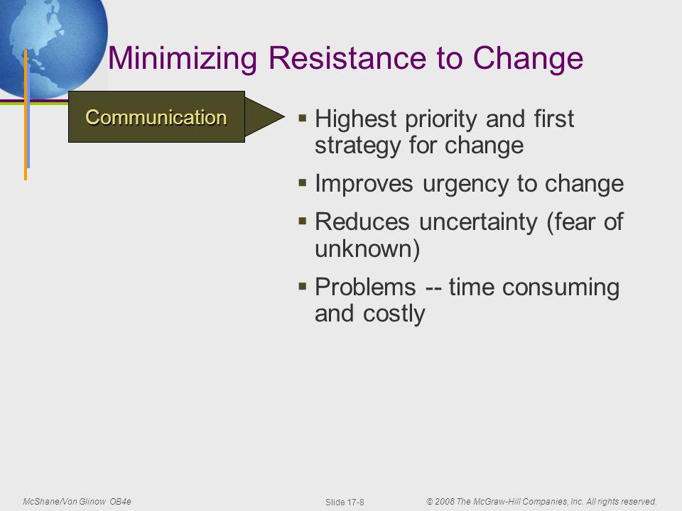 minimizing resistance to change